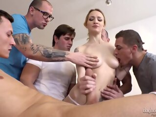anal blonde double penetration at FapVid