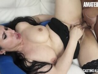 brunette blowjob hardcore at FapVid